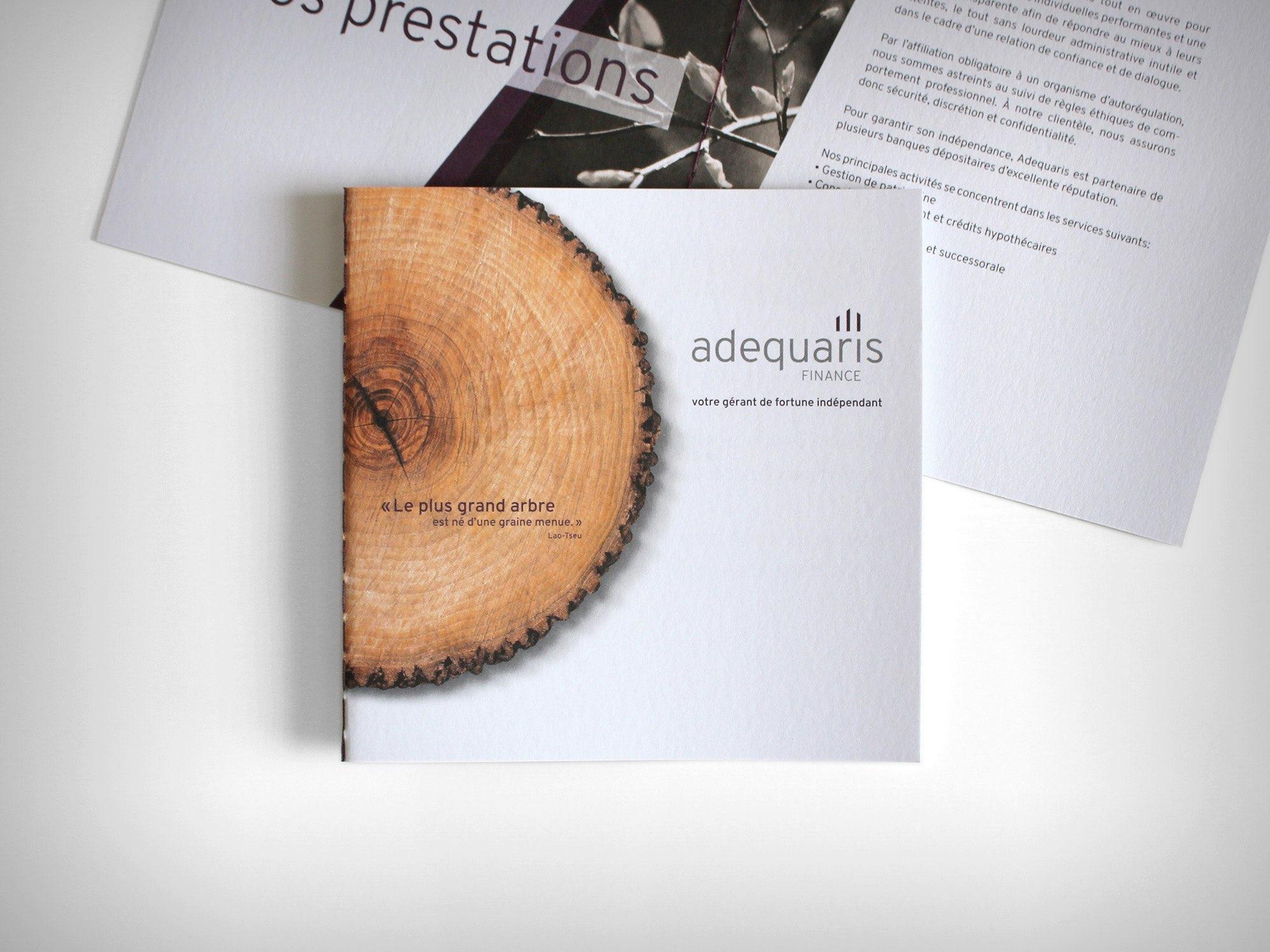 Adequaris SA – Brochure, présentation de l'entreprise par Créambule