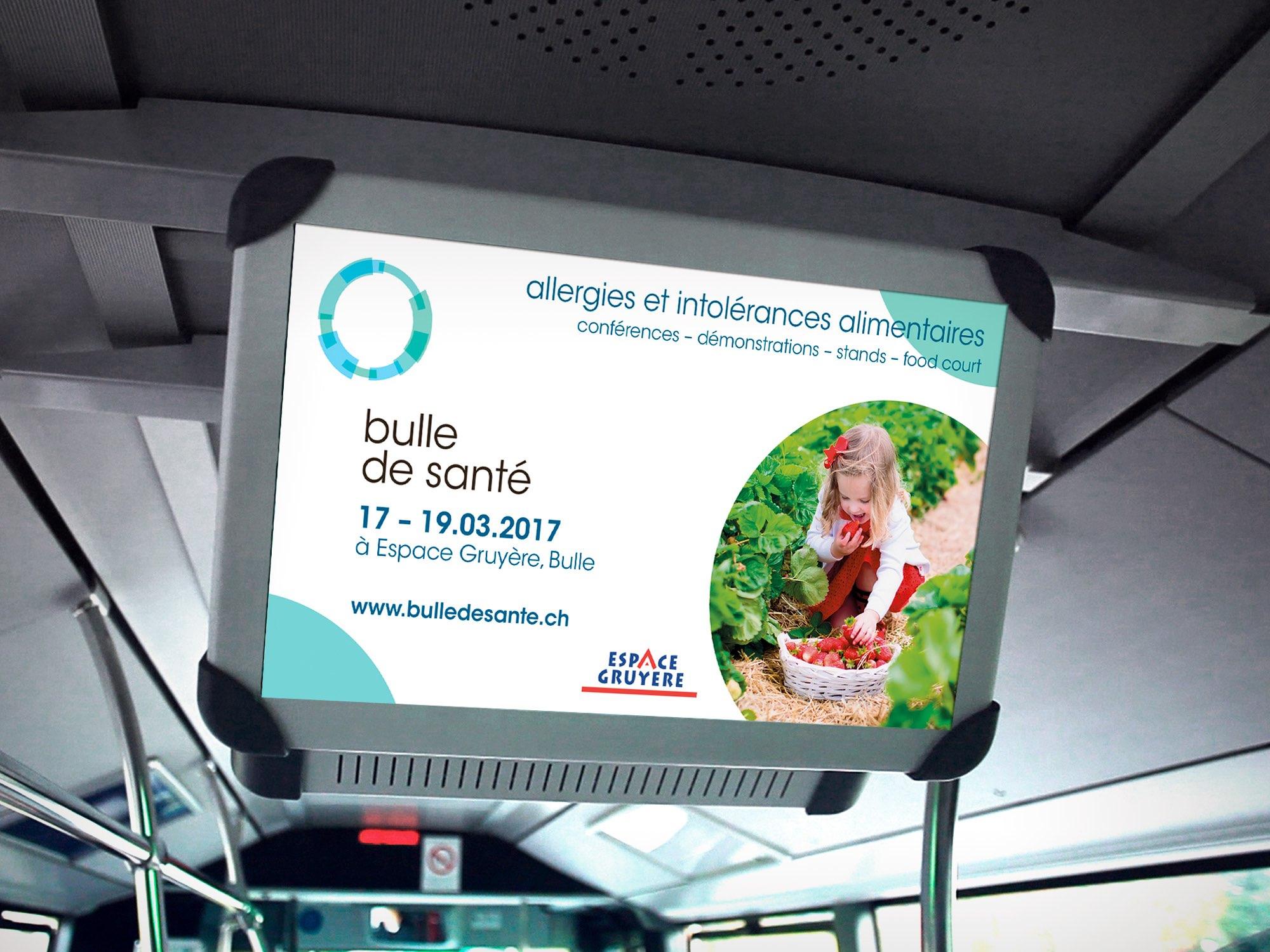 Espace Gruyère SA – Annonce digitale pour «Bulle de santé» par Créambule