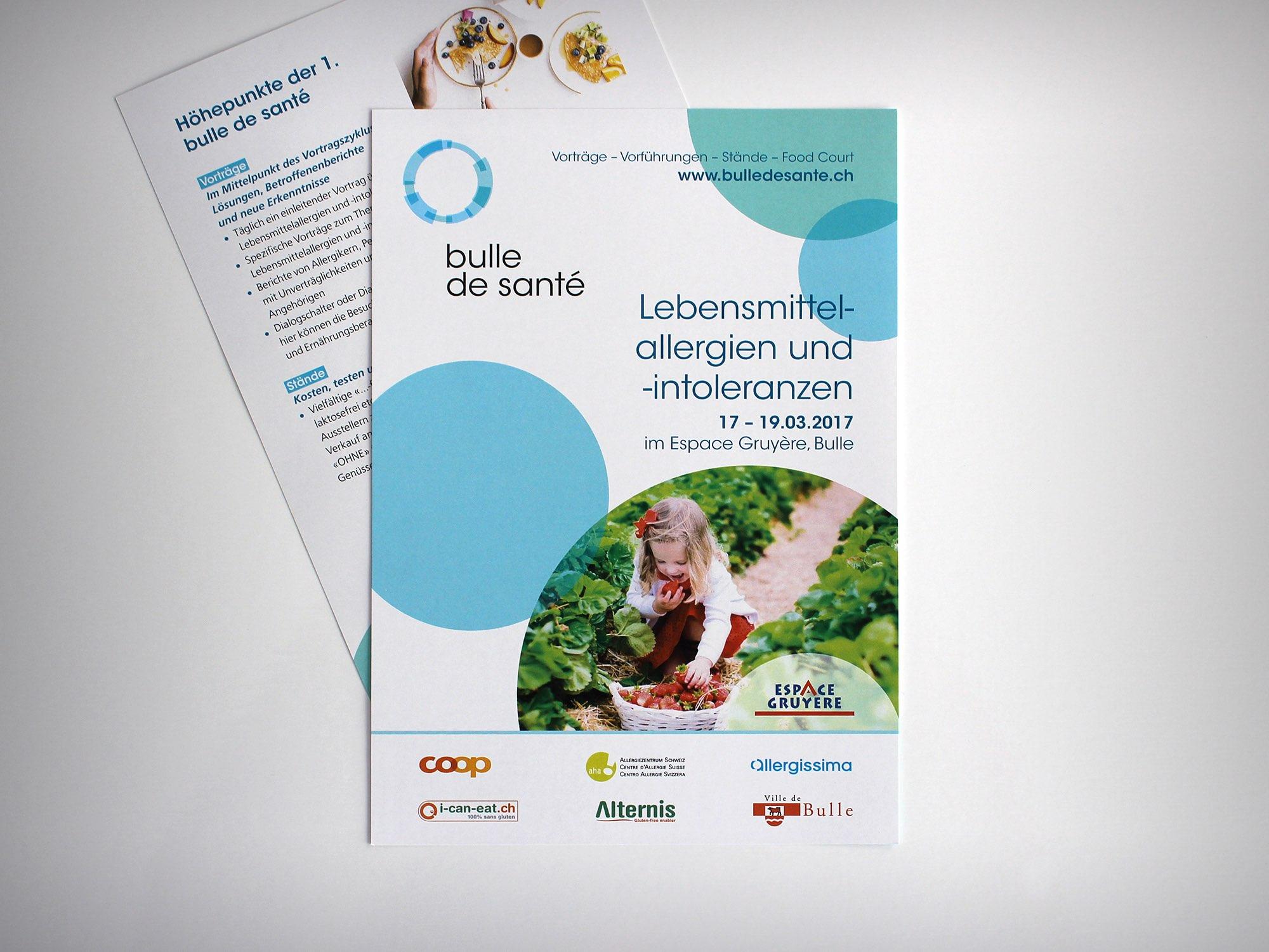 Espace Gruyère SA – Flyer pour «Bulle de santé» par Créambule