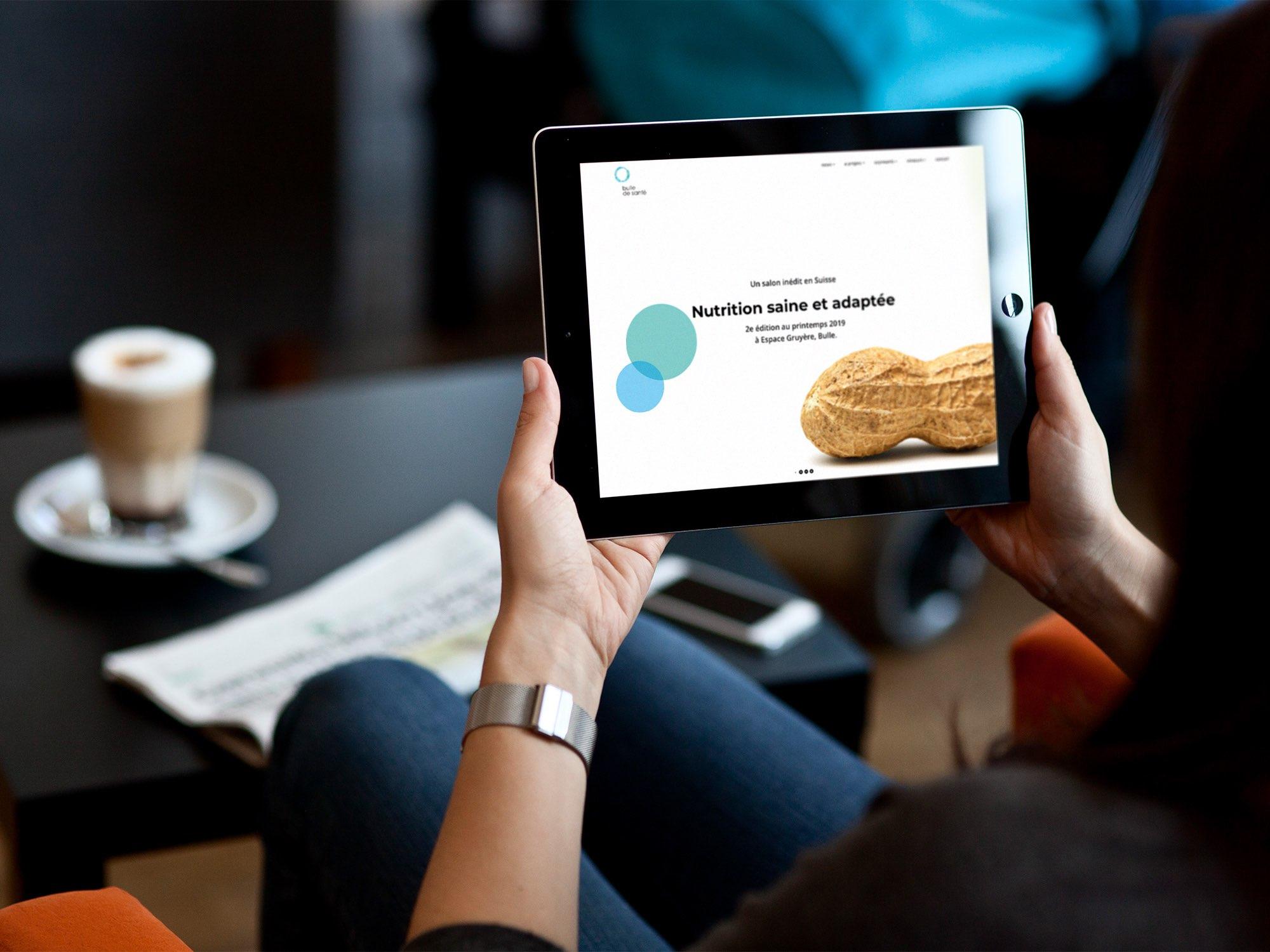 Espace Gruyère SA – Site web pour «Bulle de santé» par Créambule