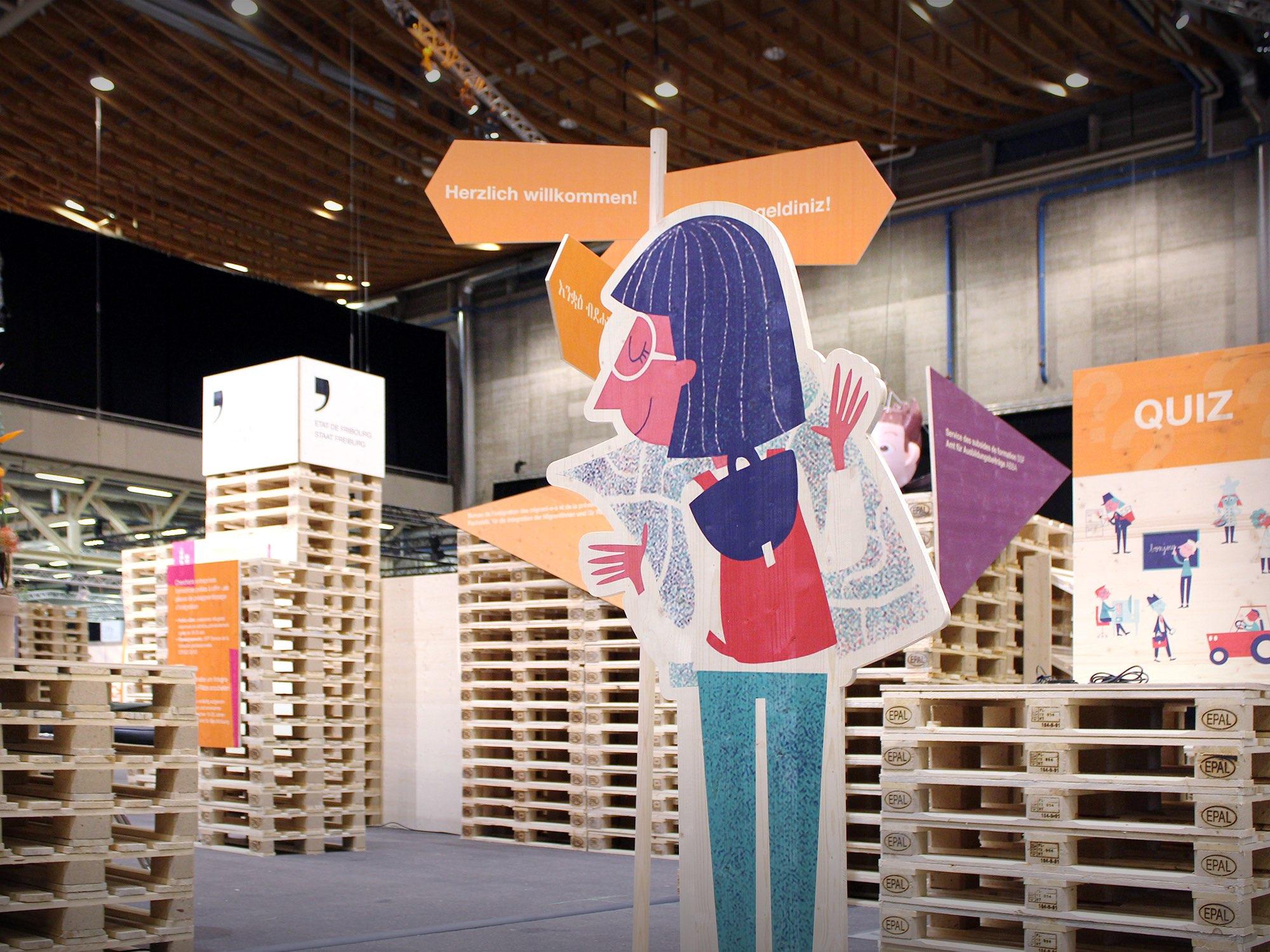 État de Fribourg, SFP – Stand «Start, forum des métiers» par Créambule