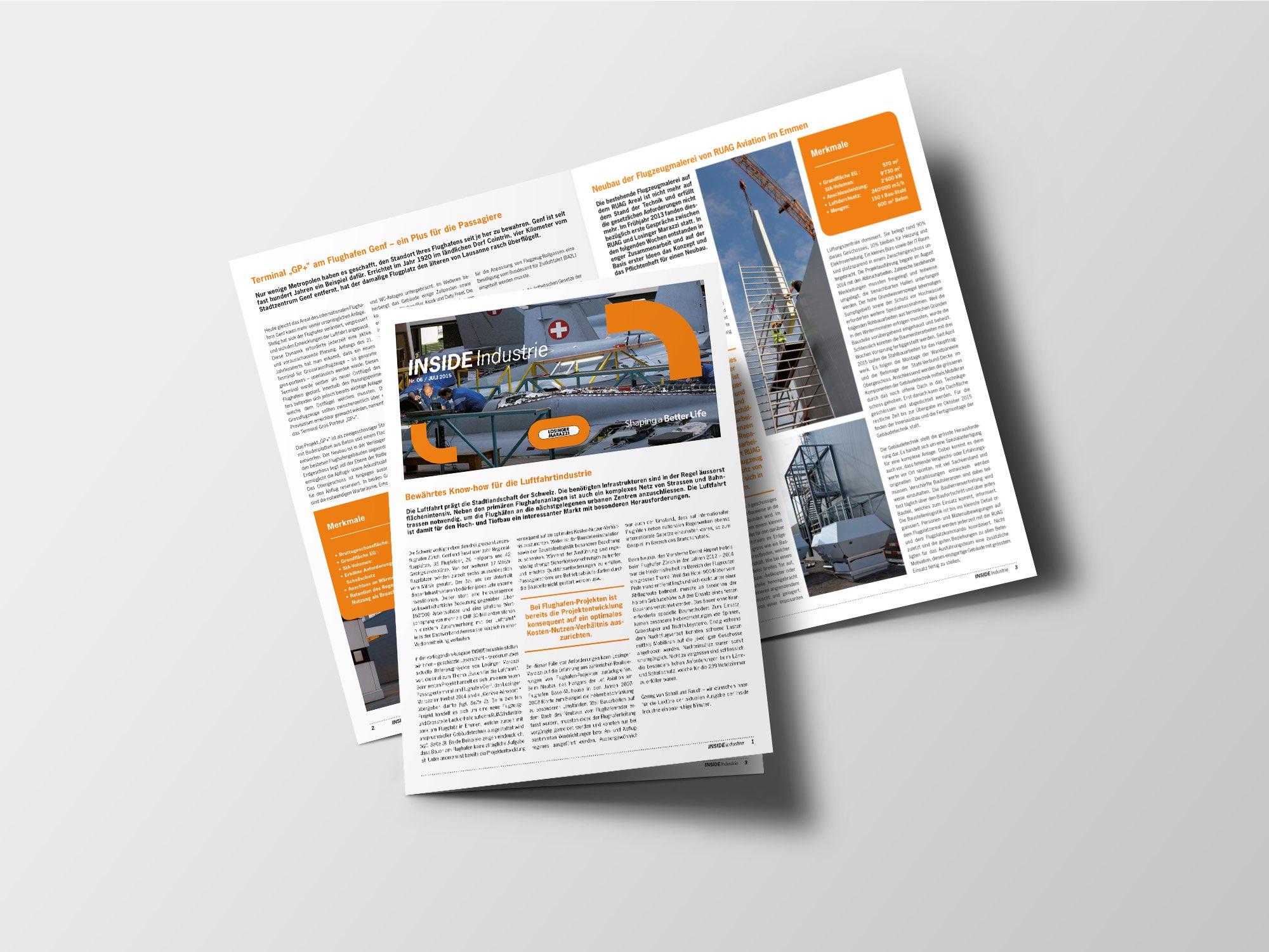 Losinger Marazzi SA – Newsletter «Inside» par Créambule