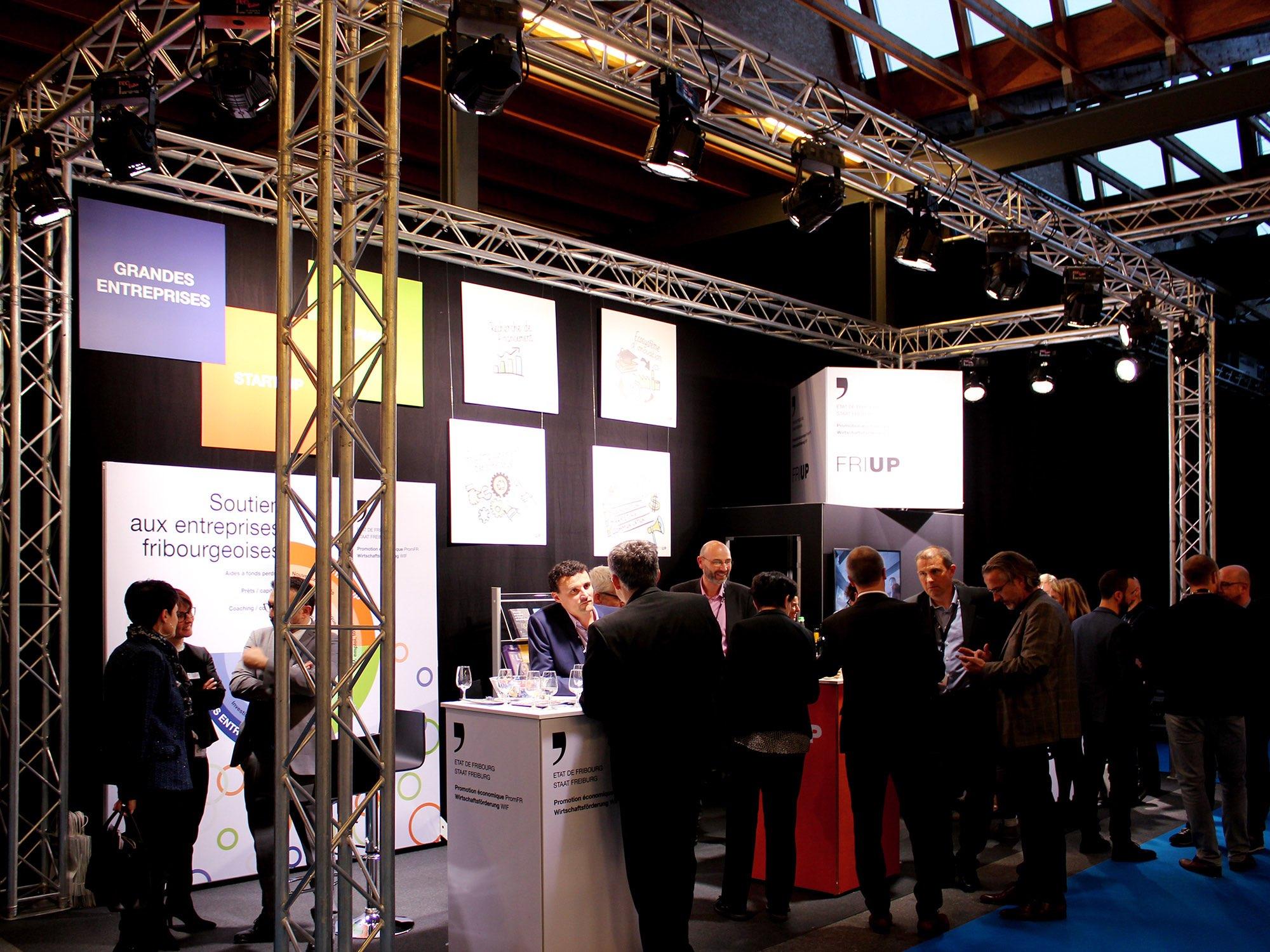 État de Fribourg, PromFR – Stand pour PromFR au «Salon de l'Entreprise» par Créambule