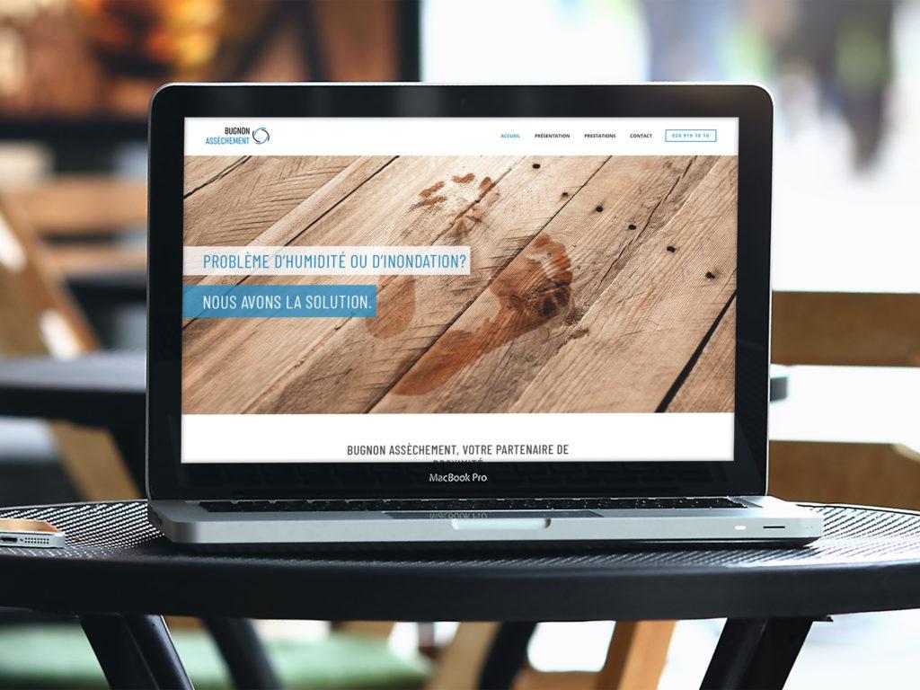Bugnon Assèchement – Site web – Réalisation Créambule Sàrl